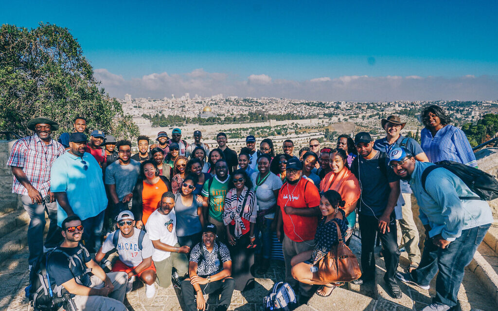 American Christian students on a Passages trip to Israel. (Courtesy of Passages)