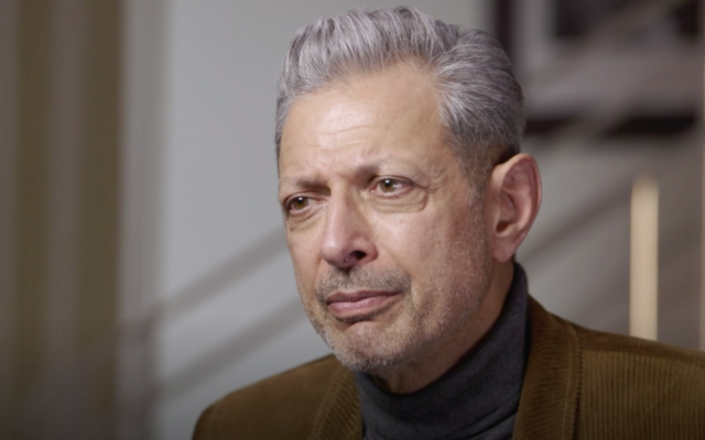 "Jeff Goldblum on an episode of ""Finding Your Roots."" (Screenshot from PBS via JTA)"