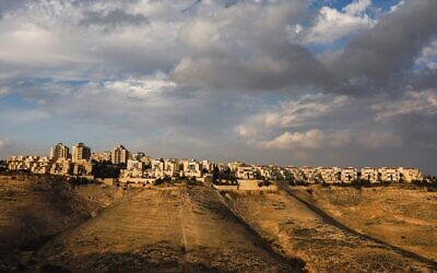 A view of the Ma'ale Adumim settlement in the West Bank, January 28, 2020. (Menahem Kahana/AFP)
