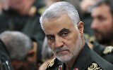 Senior Revolutionary Guard commander General Qassem Soleimani attends a meeting with Supreme Leader Ayatollah Ali Khamenei (not seen) and Revolutionary Guard commanders in Tehran, Iran, September 18, 2016. (Office of the Iranian Supreme Leader via AP)