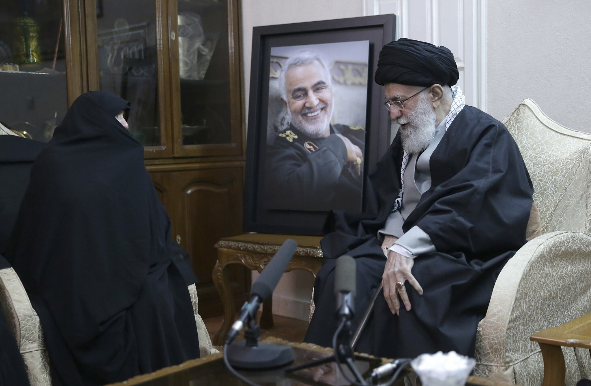 Image result for soleimani death khamenei weeping