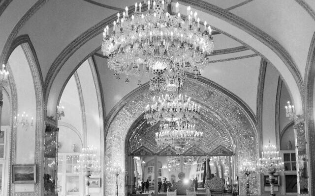 This Oct. 27, 1960 file photo, shows a partial view of the Throne Hall of the Royal Golestan Palace, in Tehran, Iran. Iran's ancient and rich cultural landscape has become a potential US military target as Washington and Tehran lob threats and take high-stakes steps toward a possible open conflict. (AP Photo/Jim Pringle, File)