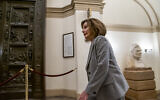 Speaker of the House Nancy Pelosi, D-Calif., arrives at the Capitol in Washington, Friday, January 10, 2020. (AP Photo/J. Scott Applewhite)
