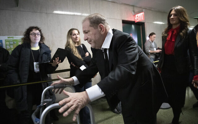 Harvey Weinstein leaves court after attending jury selection for his sexual assault trial, January 10, 2020, in New York. (AP Photo/Mark Lennihan)