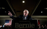 Democratic presidential candidate Sen. Bernie Sanders, I-Vt., speaks at a climate rally with the Sunrise Movement at The Graduate Hotel, Jan. 12, 2020, in Iowa City, Iowa. (AP Photo/Andrew Harnik)