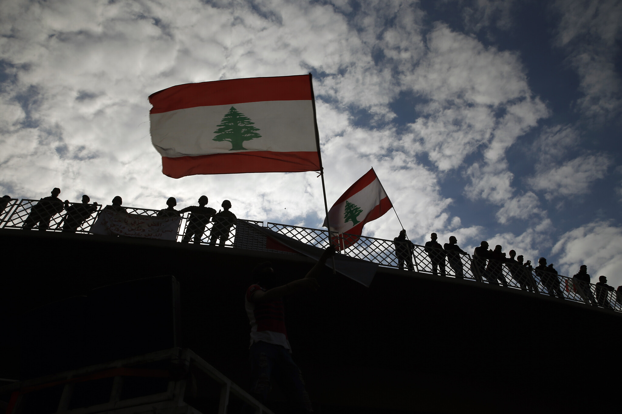 35 injured as protests turn violent for second night in Lebanon