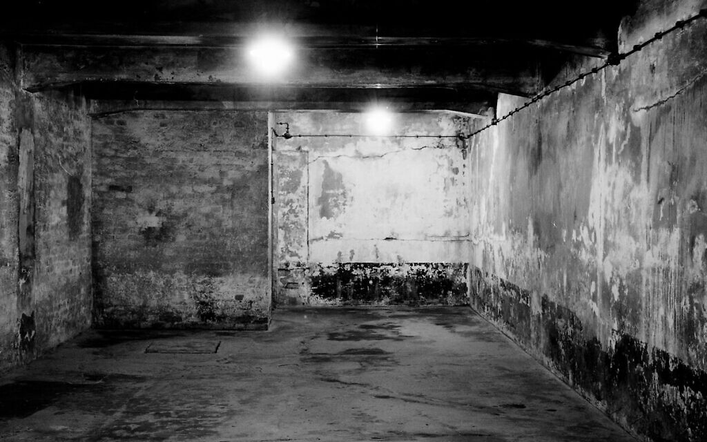 A view inside gas chamber one at the former Nazi death camp of Auschwitz I in Oswiecim, Poland, December 8, 2019. (Markus Schreiber/AP)