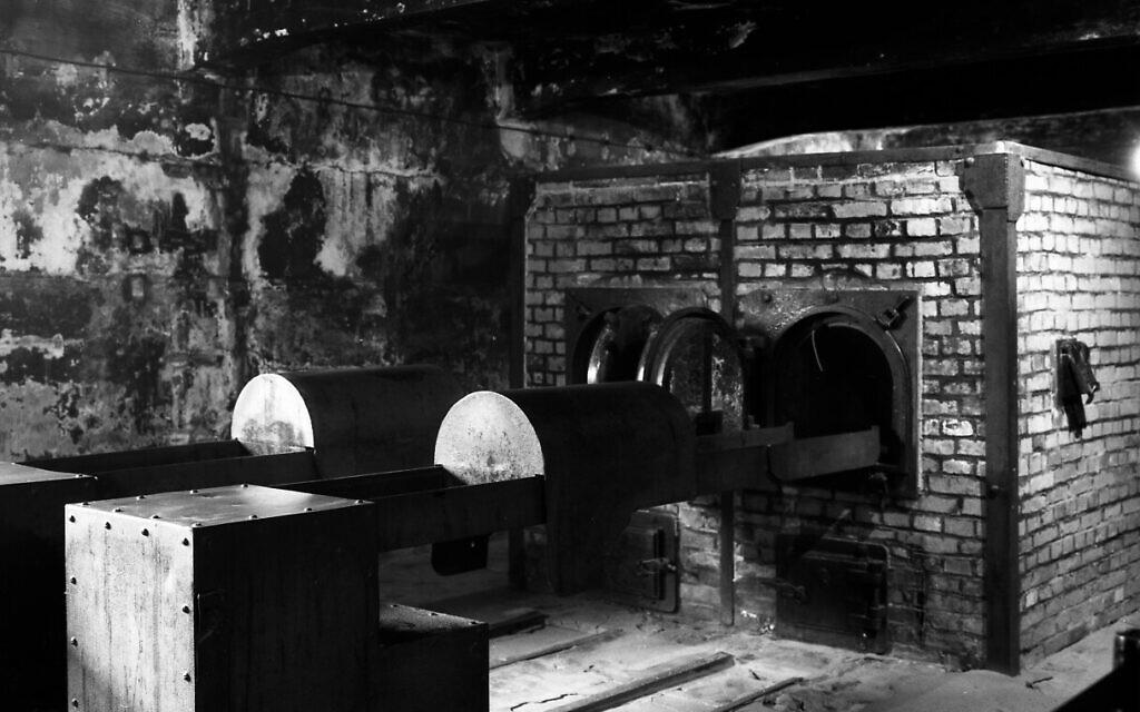 The crematorium near gas chamber one at the former Nazi death camp of Auschwitz I in Oswiecim, Poland, December 8, 2019.  (Markus Schreiber/AP)
