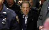 Harvey Weinstein leaves court during his rape trial, January 21, 2020, in New York. (AP Photo/Richard Drew)