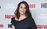 """In this January 9, 2019, file photo, Annabella Sciorra attends HBO's """"The Sopranos"""" 20th anniversary at the SVA Theatre in New York. (Charles Sykes/Invision/AP, File)"""