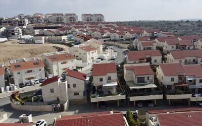 A view of the Israeli West Bank settlement of Ariel, January 28, 2020. (AP Photo/Ariel Schalit)
