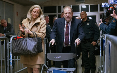 Harvey Weinstein leaves for the day, during his trial on charges of rape and sexual assault, January 28, 2020, in New York. (AP Photo/Craig Ruttle)