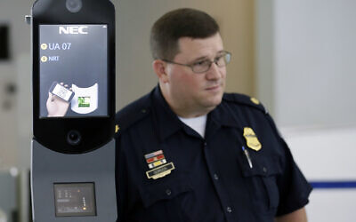 Illustrative: A US Customs and Border Protection agent at George Bush Intercontinental Airport, in Houston, Texas (AP Photo/David J. Phillip)