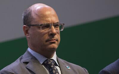 Rio de Janeiro Gov. Wilson Witzel attends a ceremony, in Rio de Janeiro, Brazil, January 3, 2019. (Leo Correa/AP)