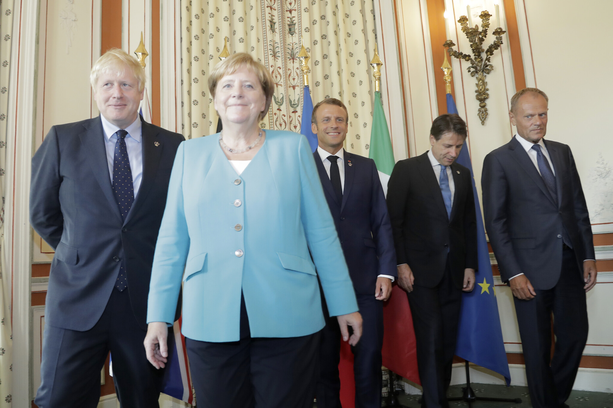 Merkel Macron Johnson Urge Iran Not To Flout Nuclear Deal The Times Of Israel