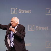 Democratic presidential candidate Sen. Bernie Sanders, I-Vt., speaks at the J Street National Conference on October 28, 2019, in Washington. (AP/Jacquelyn Martin)
