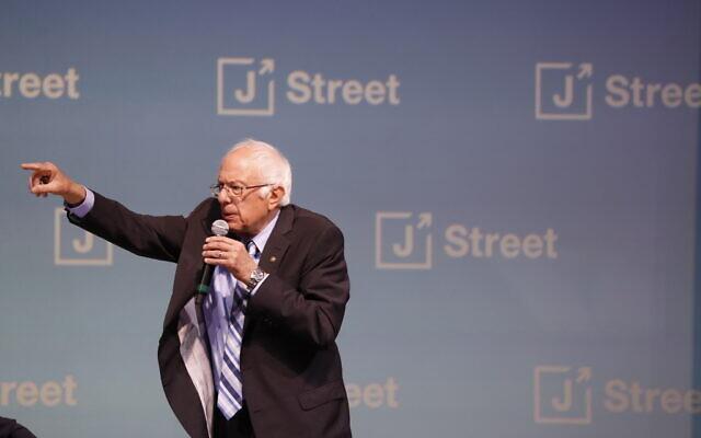 Democratic presidential candidate Sen. Bernie Sanders, I-Vt., speaks at the J Street National Conference on October 28, 2019, in Washington. (AP/Jacquelyn Martin)