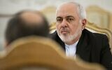 Iranian Foreign Minister Mohammad Javad Zarif during talks in Moscow, Russia, December 30, 2019. (Alexander Zemlianichenko/AP)