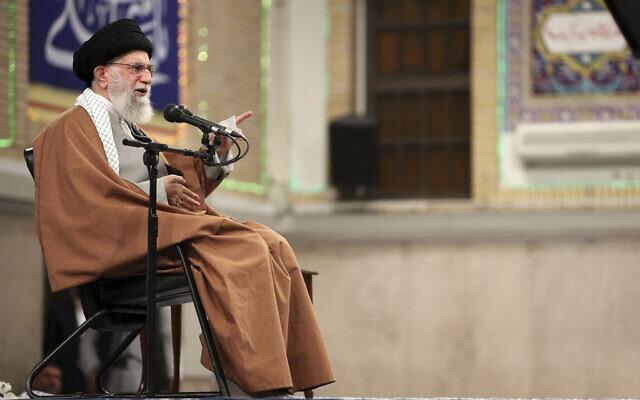 Iranian Supreme Leader Ayatollah Ali Khamenei in Tehran, Iran, January 1, 2020. (Office of the Iranian Supreme Leader via AP)