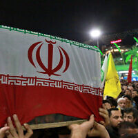Mourners carry the coffin of Iranian general Qassem Soleimani during his funeral in Karbala, Iraq, Saturday, Jan. 4, 2020 (AP Photo/Khalid Mohammed)
