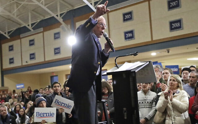 Democratic presidential candidate Sen. Bernie Sanders, I-Vt., speaks at a campaign event, Saturday, Jan. 18, 2020, in Exeter, N.H. (AP/Elise Amendola)