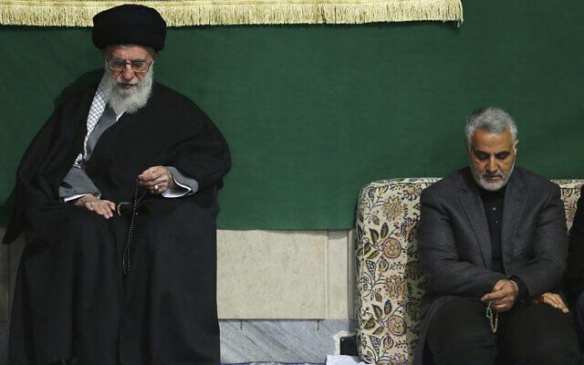 Resultado de imagen de qassem soleimani and ali khamenei