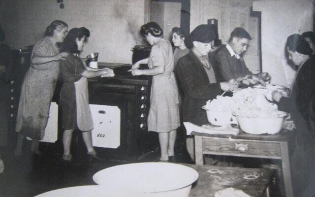 Children in the kitchen at the Calgarth Estate, circa 1946 (Lake District Holocaust Project)