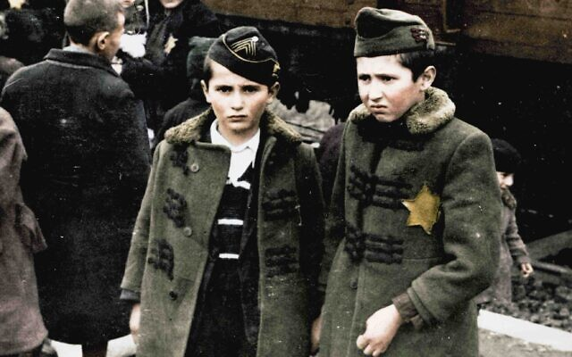 Still from 'Auschwitz: Untold in Color.' (Serge Klarsfeld/ Lily Jacob-Zelmanovic Meier)