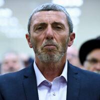 Rafi Peretz, leader of the Jewish Home party, in Petah Tikva, February 20, 2019. (Gili Yaari/Flash90)