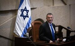 Knesset Speaker Yuli Edelstein seen at the Knesset in Jerusalem on December 11, 2019. (Hadas Parush/Flash90)