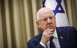 President Reuven Rivlin pictured at the President's Residence in Jerusalem on January 6, 2020. (Flash90)