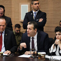Likud MK Miki Zohar speaks during an Arrangements Committee meeting at the Knesset in Jerusalem, January 13, 2020. (Hadas Parush/Flash90)