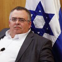 Likud MK David Bitan at the Knesset on January 15, 2020. (Olivier Fitoussil/Flash90)