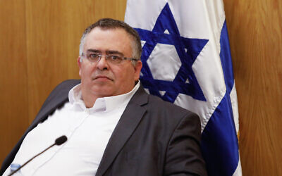 Likud MK David Bitan at the Knesset, on January 15, 2020. (Olivier Fitoussil/Flash90)