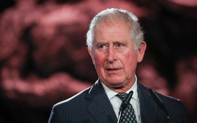 Charles, Prince of Wales, speaks during the Fifth World Holocaust Forum at the Yad Vashem Holocaust memorial museum in Jerusalem, January 23, 2020 (Yonatan Sindel/Flash90)