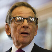 Writer Robert Caro speaks at the 2012 Texas Book Festival in Austin about his latest work, 'The Passage of Power' (Robert Daemmrich Photography Inc/Corbis via Getty Images/via JTA)