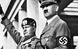 Benito Mussolini and Adolf Hitler (Courtesy of PerlePress Productions)
