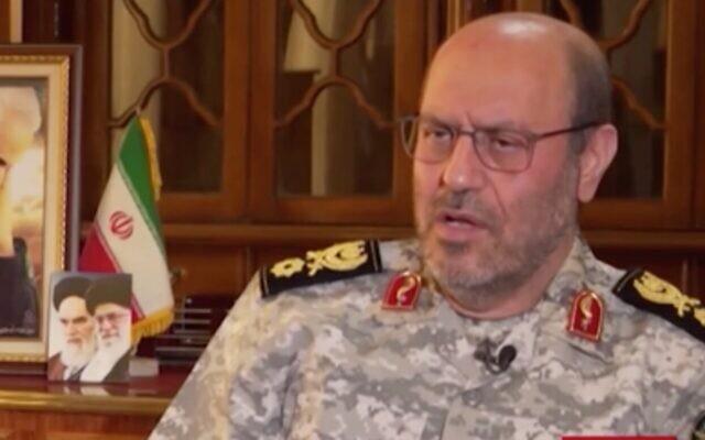 Screen capture from video of Hossein Dehghan, the military adviser to Supreme Leader Ayatollah Khamenei. (CNN)
