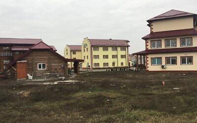 The Ukrainian-Jewish hamlet of Anatevka on January 14, 2020. (Simona Weinglass/Times of Israel)