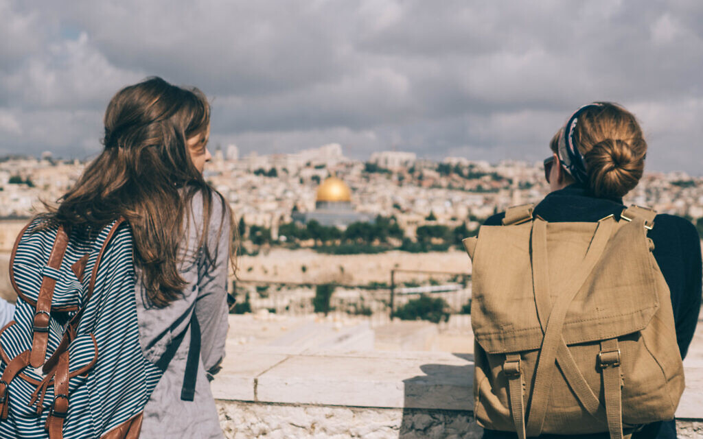 American Christian students look out over Jerusalem on a Passages trip to Israel. (Courtesy of Passages)