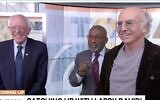 "US Senator Bernie Sanders of Vermont (L), Al Roker (C) and Larry David on NBC's ""Today"" show, January 10, 2019. (Screen capture: Twitter)"