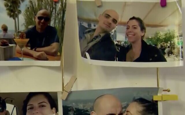Photographs of Neal and Adi Erlich. (Screen capture: Channel 13 news)