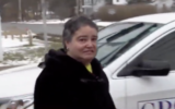Tara Rios was arraigned with first-degree harassment as a hate crime for throwing pork chops at a synagogue (Screencapture/ WRGB Albany via JTA)
