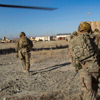 Illustrative: US troops in southeastern Afghanistan, December 29, 2019. (US Army/Alejandro Licea)
