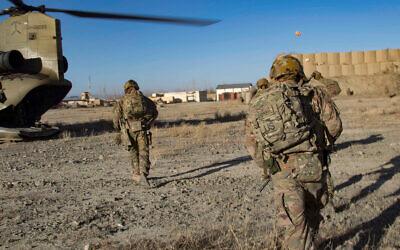 US troops in southeastern Afghanistan, December 29, 2019. (US Army/Alejandro Licea)