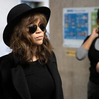 Actress Rosie Perez arrives for Harvey Weinstein's rape trial, Jan. 24, 2020 in New York. (AP/Mark Lennihan)