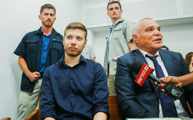 Yair Netanyahu at the Tel Aviv Magistrate's Court, June 5, 2018. (Flash90)