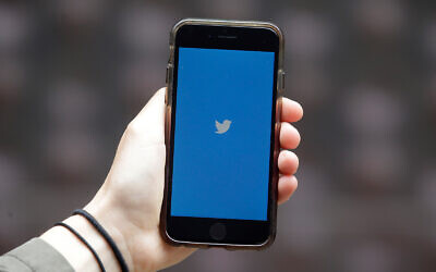 Illustrative. A phone showing the Twitter icon, July 10, 2019. (AP Photo/Jeff Chiu)