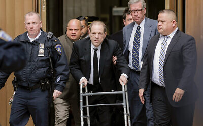 Harvey Weinstein leaves New York court, January 6, 2020, in New York. (AP Photo/Seth Wenig)