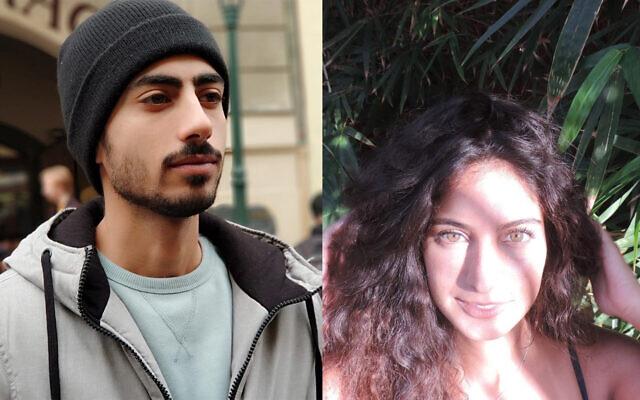 Dean Yaakov Shoshani, left, and Stav Harari, right, drowned in a Tel Aviv elevator on January 4, 2020. (Facebook/Instagram)